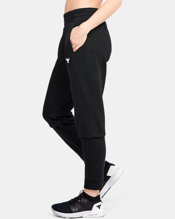 Women's Project Rock Terry Joggers, Black, pdpMainDesktop image number 3