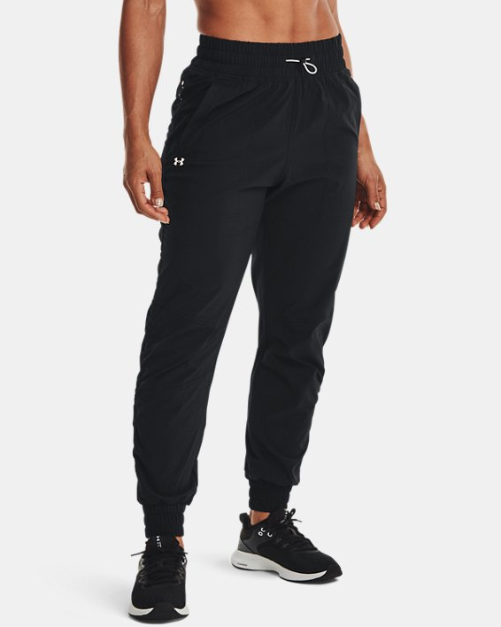 Women's UA RECOVER™ Woven Pants, Black, pdpMainDesktop image number 1