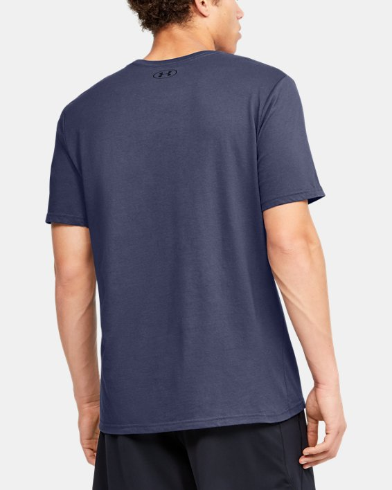 Men's UA Verbiage Graphic Short Sleeve, Blue, pdpMainDesktop image number 2