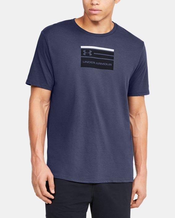 Men's UA Verbiage Graphic Short Sleeve, Blue, pdpMainDesktop image number 0