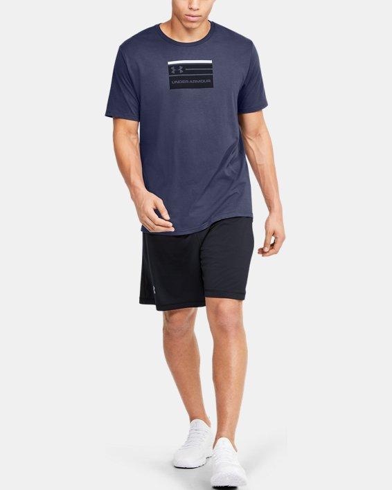 Men's UA Verbiage Graphic Short Sleeve, Blue, pdpMainDesktop image number 1