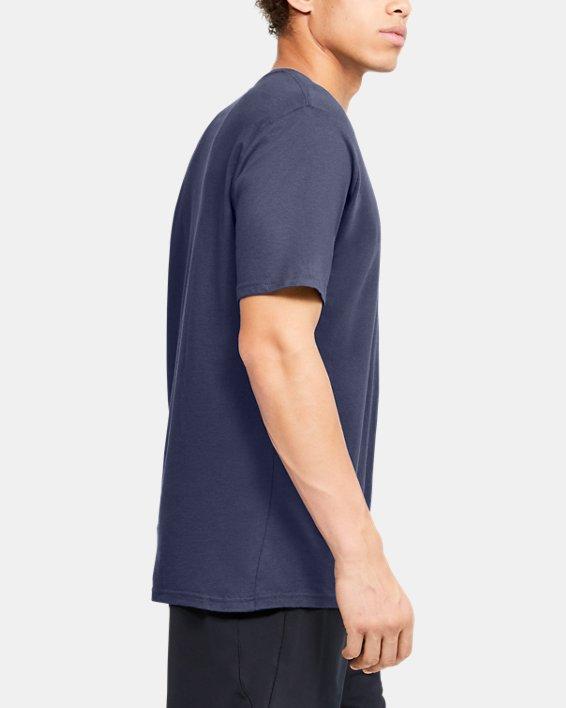 Men's UA Verbiage Graphic Short Sleeve, Blue, pdpMainDesktop image number 3