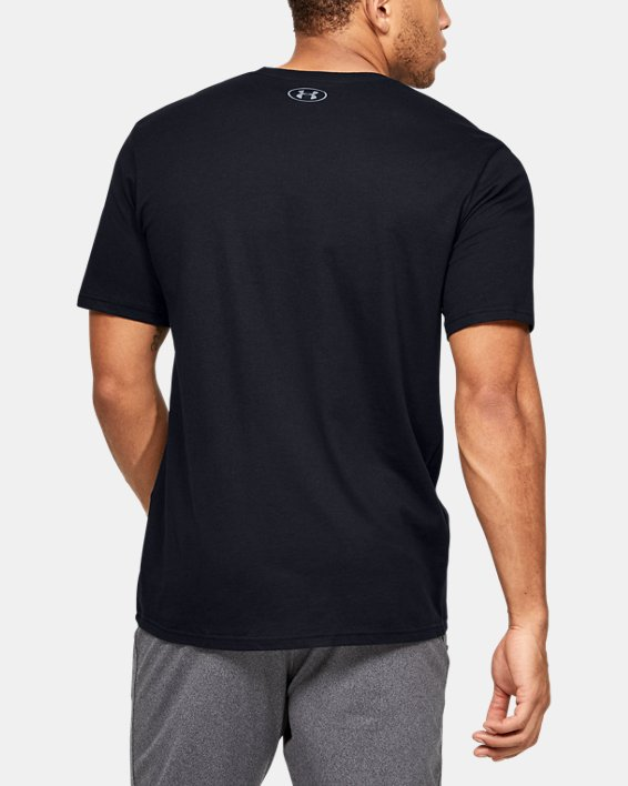 Men's UA Verbiage Graphic Short Sleeve, Black, pdpMainDesktop image number 2