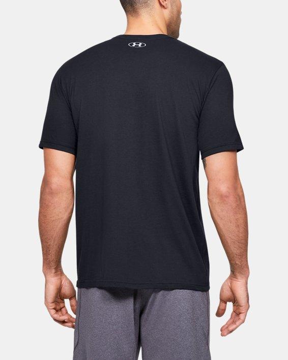 Men's UA Branded Wordmark Graphic Short Sleeve, Black, pdpMainDesktop image number 2