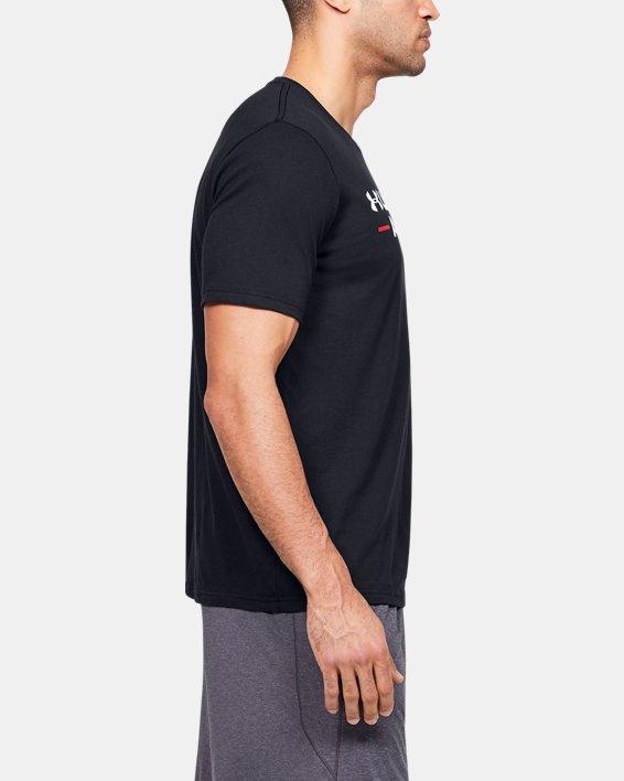 Men's UA Branded Wordmark Graphic Short Sleeve, Black, pdpMainDesktop image number 3