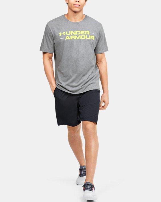 Men's UA Branded Wordmark Graphic Short Sleeve, Gray, pdpMainDesktop image number 1