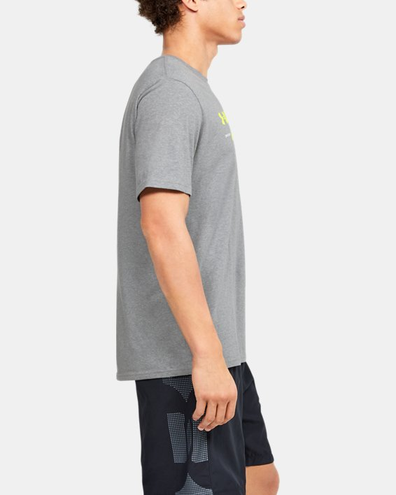 Men's UA Branded Wordmark Graphic Short Sleeve, Gray, pdpMainDesktop image number 3