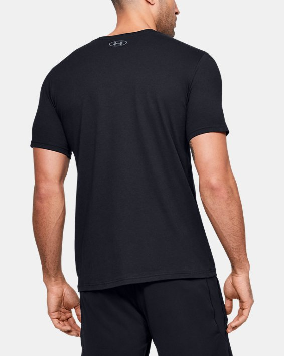 Men's UA Branded Logo Graphic Short Sleeve, Black, pdpMainDesktop image number 2