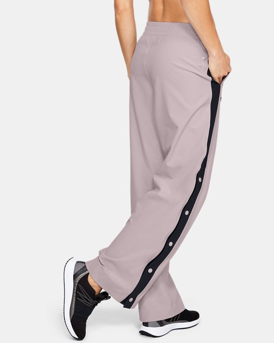 Women's UA RECOVER™ Woven Wide Leg Pants, Pink, pdpMainDesktop image number 2