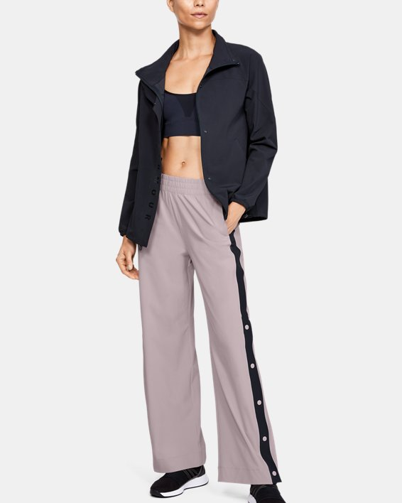 Women's UA RECOVER™ Woven Wide Leg Pants, Pink, pdpMainDesktop image number 0