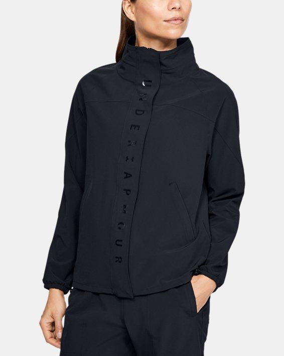 Women's UA RECOVER™ Woven Full Zip, Black, pdpMainDesktop image number 2