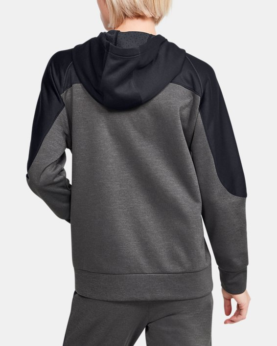 Women's UA RECOVER™ Knit Full Zip, Gray, pdpMainDesktop image number 2
