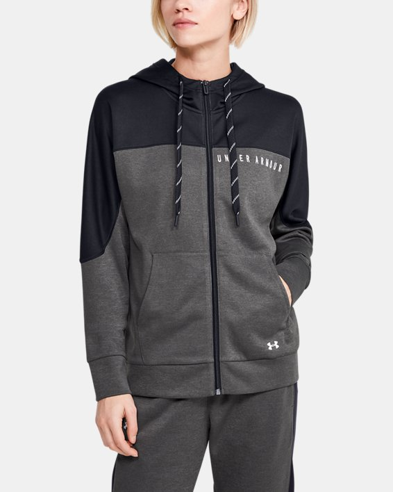 Women's UA RECOVER™ Knit Full Zip, Gray, pdpMainDesktop image number 0