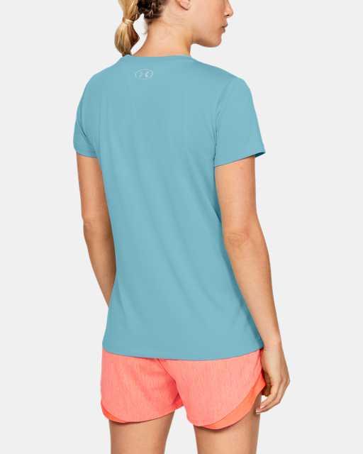 T-shirt à manches courtes et col ras du cou UA Tech™ Logo Graphic pour femme