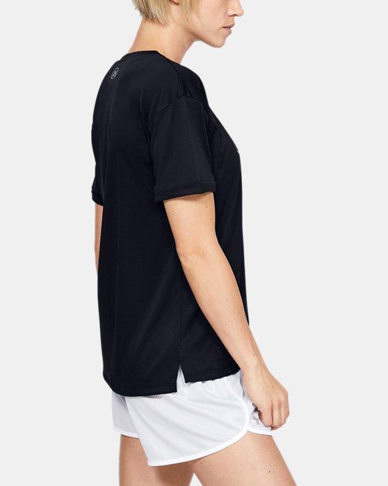 Women's UA Performance Graphic T-Shirt, Black, pdpMainDesktop image number 3