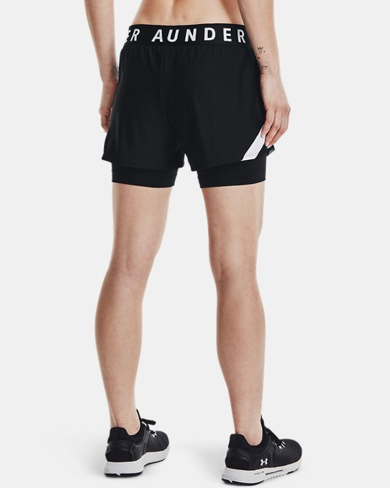 Women's UA Play Up 2-in-1 Shorts, Black, pdpMainDesktop image number 2