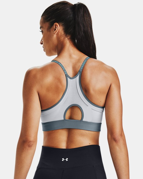 Women's UA Infinity Low Sports Bra, Gray, pdpMainDesktop image number 1