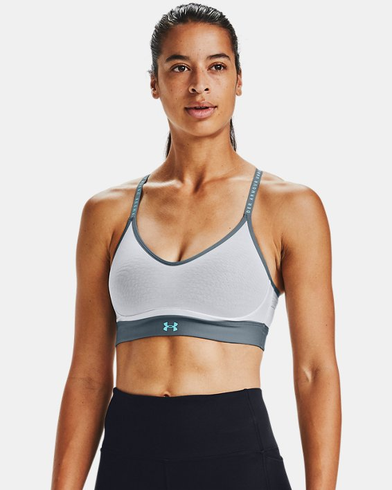 Women's UA Infinity Low Sports Bra, Gray, pdpMainDesktop image number 0