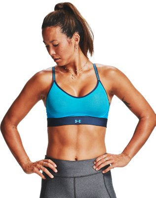 Under Armour UA Womens Perpetual Low Impact Blue Gym Sports Training Bra