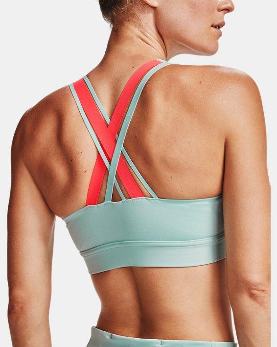 Women's UA RUSH™ Low Sports Bra, Blue, pdpMainDesktop image number 1