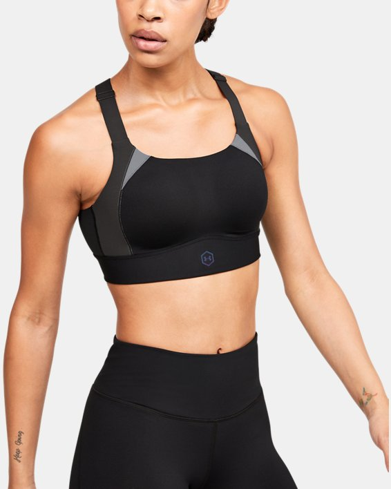 Soutien-gorge de sport UA RUSH™ High pour femme, Black, pdpMainDesktop image number 0