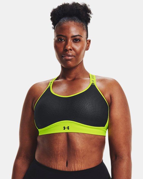 Damen UA Infinity Mid Sport-BH, Black, pdpMainDesktop image number 3