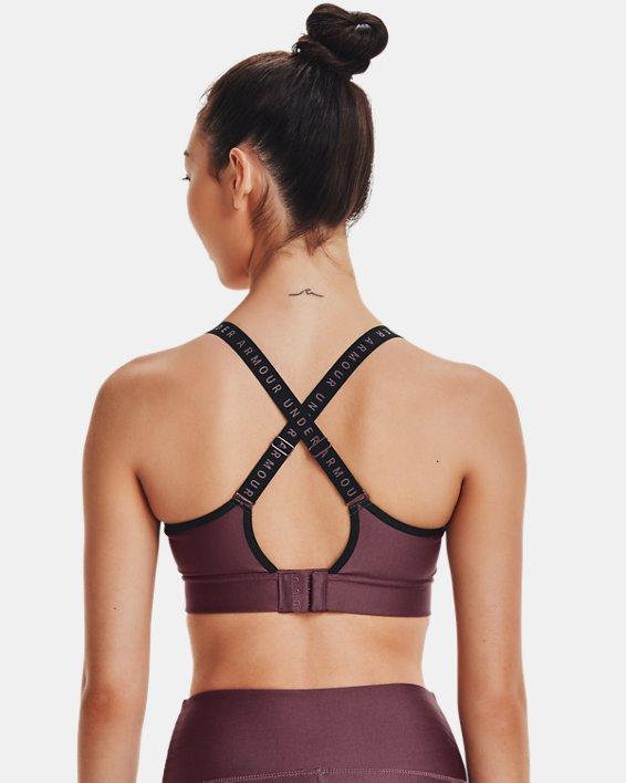 Damen UA Infinity Mid Sport-BH, Purple, pdpMainDesktop image number 1