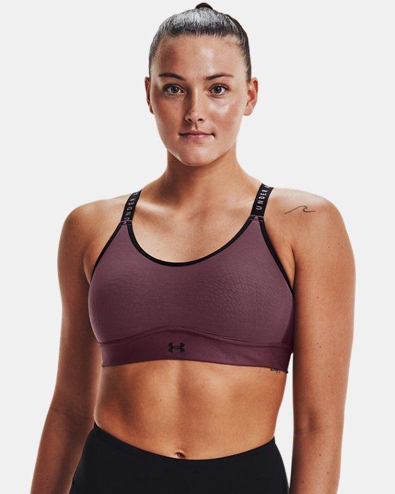 Damen UA Infinity Mid Sport-BH, Purple, pdpMainDesktop image number 2