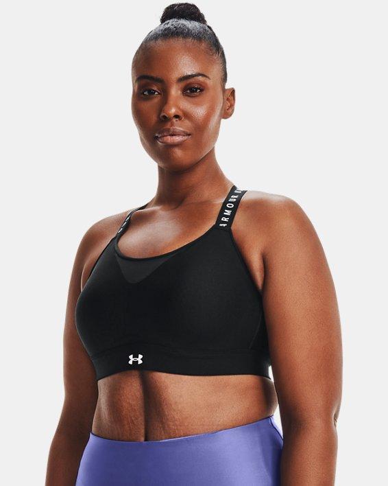 Women's UA Infinity High Sports Bra, Black, pdpMainDesktop image number 6