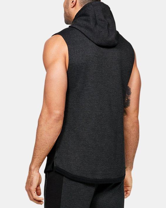 Men's UA Double Knit Sleeveless Hoodie, Black, pdpMainDesktop image number 2