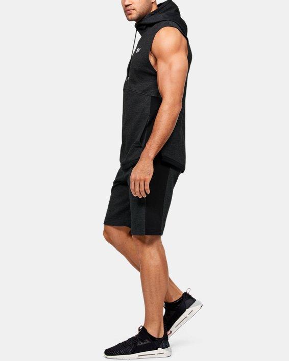 Men's UA Double Knit Sleeveless Hoodie, Black, pdpMainDesktop image number 1