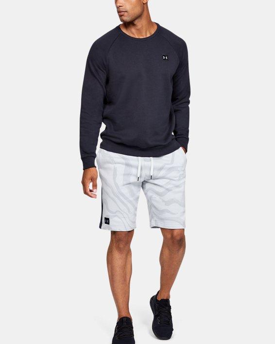 Short UA Speckled Fleece Printed pour homme, Gray, pdpMainDesktop image number 1