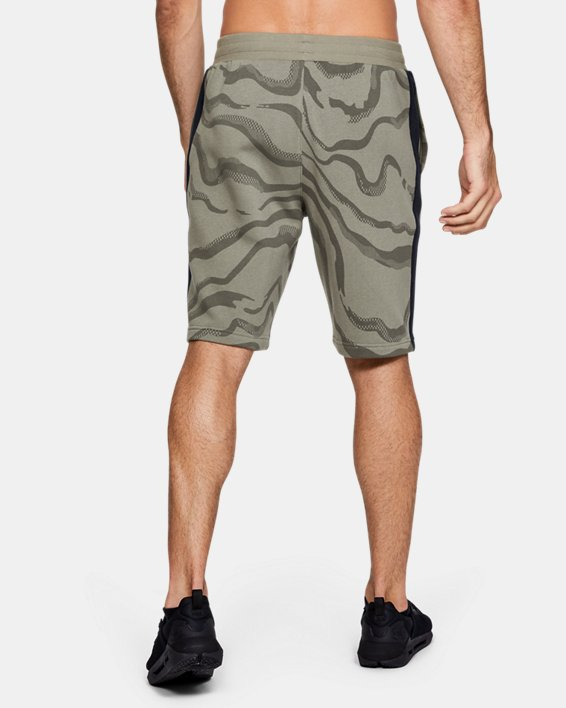 Men's UA Speckled Fleece Printed Shorts, Green, pdpMainDesktop image number 2