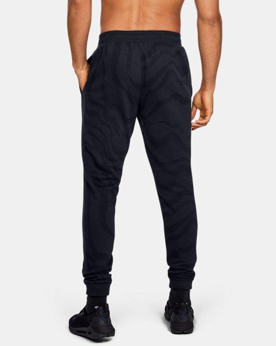 Men's UA Rival Fleece Printed Pants, Black, pdpMainDesktop image number 2