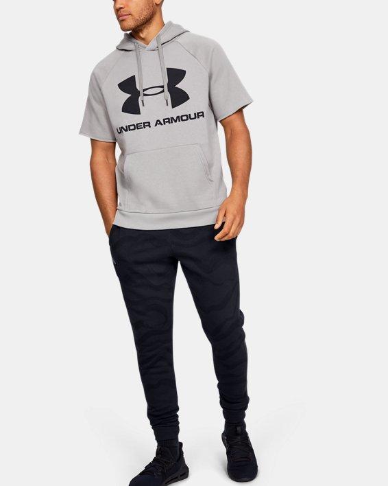 Men's UA Rival Fleece Printed Pants, Black, pdpMainDesktop image number 1