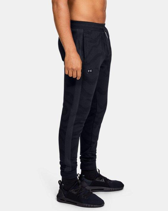 Men's UA Rival Fleece Printed Pants, Black, pdpMainDesktop image number 3