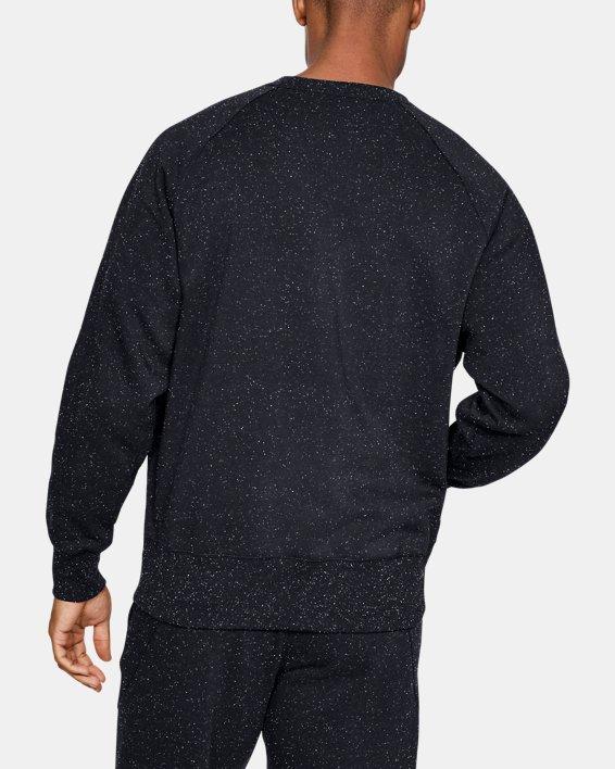 Men's UA Speckled Fleece Crew, Black, pdpMainDesktop image number 2