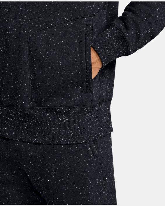 Men's UA Speckled Fleece Crew, Black, pdpMainDesktop image number 5