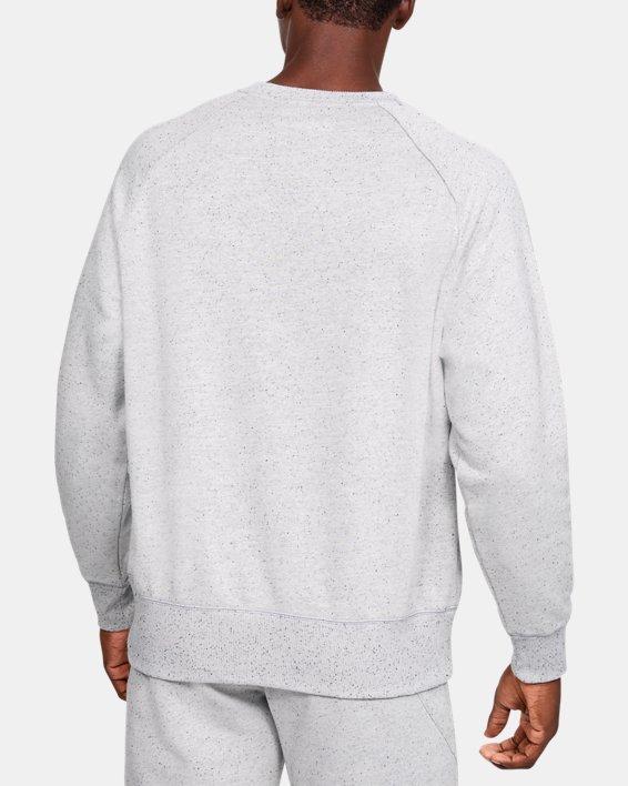 Men's UA Speckled Fleece Crew, White, pdpMainDesktop image number 2