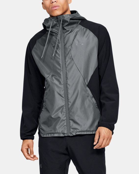 Men's UA Stretch Woven Full Zip Jacket, Black, pdpMainDesktop image number 1