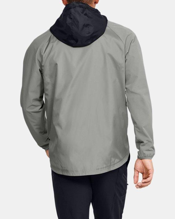 Men's UA Stretch Woven Full Zip Jacket, Green, pdpMainDesktop image number 2