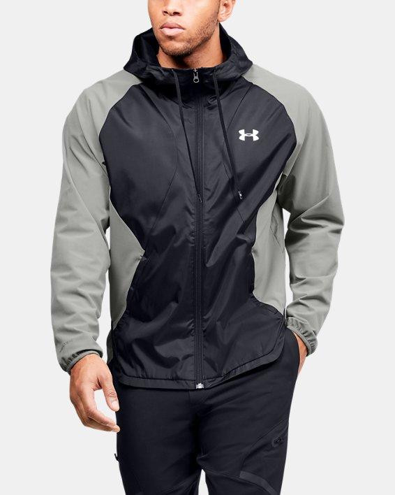 Men's UA Stretch Woven Full Zip Jacket, Green, pdpMainDesktop image number 1