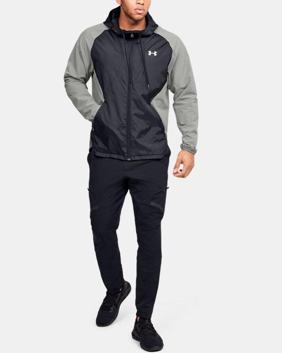 Men's UA Stretch Woven Full Zip Jacket, Green, pdpMainDesktop image number 0