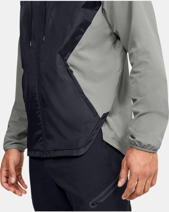 Men's UA Stretch Woven Full Zip Jacket, Green, pdpMainDesktop image number 3