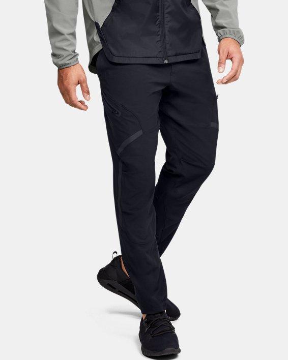 Pantalon cargo UA Flex Woven pour homme, Black, pdpMainDesktop image number 0