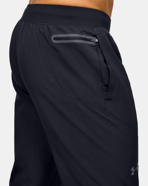 Men's UA Flex Woven Tapered Pants, Black, pdpMainDesktop image number 5