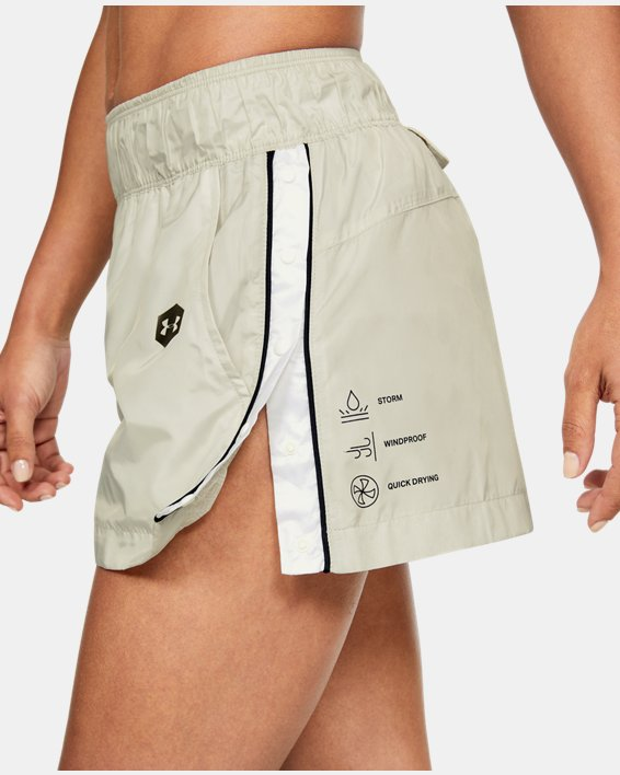 Women's UA Always On Recover Shorts, White, pdpMainDesktop image number 3