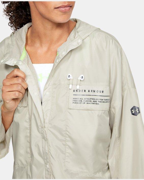 Women's UA Always On Recover Anorak Jacket, White, pdpMainDesktop image number 5