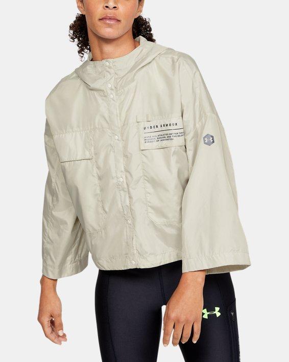 Women's UA Always On Recover Anorak Jacket, White, pdpMainDesktop image number 0