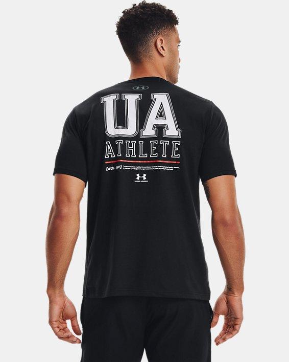 Men's UA Vertical Left Chest Short Sleeve, Black, pdpMainDesktop image number 2